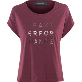 Peak Performance Ground Cap Tee Women wine